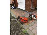 2x top handle chainsaws
