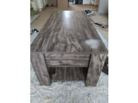 Coffee table with storage department.