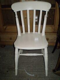White Farmhouse Dining Chair