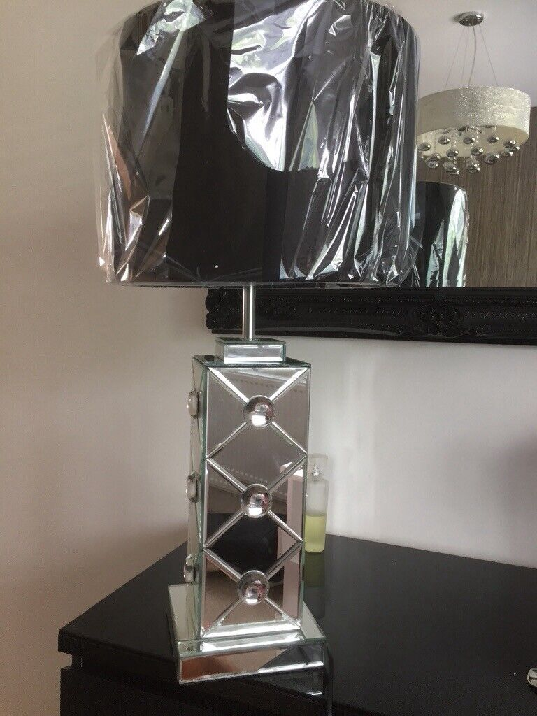 Julien Mcdonald Mirrored Glass Table Lamp With Black Shade In Hartlepool County Durham Gumtree