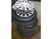 Ford Fiesta MK7 2013 Wheel Trims with Tyres