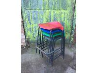 ob lot 35 x Vintage lab stools - cafe, garden, bar etc. Same stools selling for £20 on ebay!
