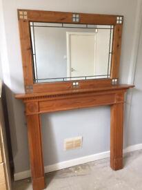 Unique mirror with fire surround
