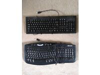 Two keyboards and card reader