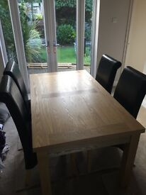 Dining table and 4 chairs for sale (collect only)