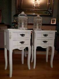 SOLD - Vintage shabby chic bedside tables