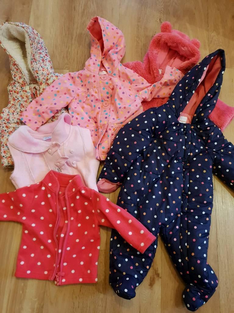 00eca6cdd Baby girl clothes bundle - snowsuit