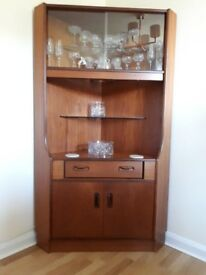 G Plan Teak Corner Unit Vintage Retro Storage Cabinet Sideboard Bookcase