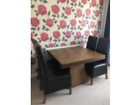 Next wooden table & 4 chairs