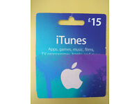 iTunes card £15 for £10