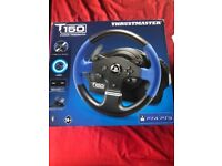 Thrustmaster 150 steering wheel and pedals for PS4.