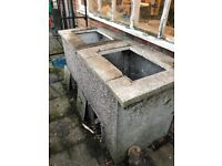 Concrete Coal bunker (double can be separated)