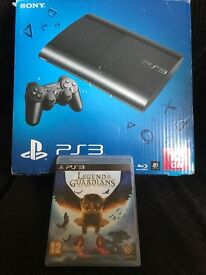 Playstation 3 PS3 slim £55 boxed mint working order with game