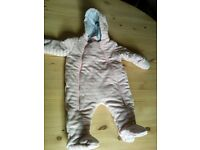 baby girl clothes snow suit / pram suit 0-3 months