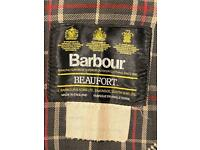 "BARBOUR Beaufort 44"" NAVY BLUE - rewaxed"