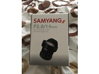 SAMYANG F2.8 MANUAL 14MM ULTRA WIDE ANGLE LENS