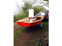 miracle Sailing Dinghy - great condition with road and launch trailer