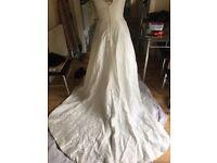Ivory wedding dress with embellishments