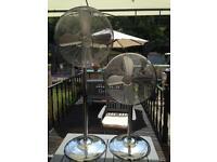 Pedestal fans (pair)