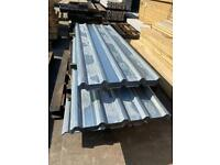 Galvanised Box Profile Roof Sheets - New - 2.4/ 3M