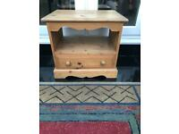Solid pine tv stand, can be used as side table or lamp table