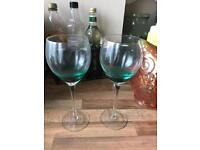 2 x Sainsburys Wine Glasses