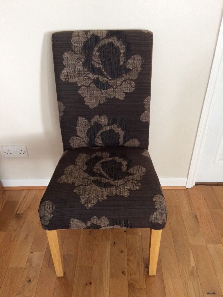 Stunning dark brown Dining chairs x 4