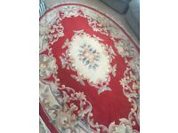 Persian oval rug good condition 242centimetres long x154 centimetres wide
