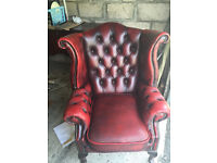 "Chesterfield Queen Anne Wing Chair ""Mint"""