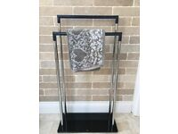 Portable Glass Base 2 Tier Towel Rail
