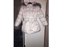 Leopard print kids coat