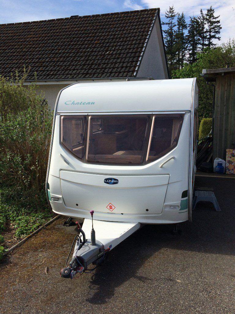 lunar chateau 500 5 berth caravan fixed bunks, newly serviced