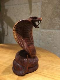 Cobra wood carving