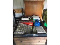Outwell Vermont Tent 6 man accessories wooden trailer hook up holiday