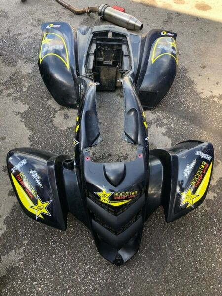 YAMAHA RAPTOR 660 BLACK PLASTICS FENDERS COMPLETE SET, used for sale  Bradford, West Yorkshire
