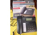 Silver Crest comfort telephone with hands free function in box