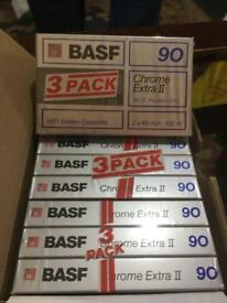 Basf cassette tapes new 2x9 chrome extra