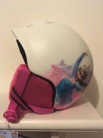Frozen ski helmet