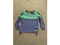 Boys joules striped top age 4