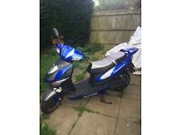 Lexmoto gladiator 125 twist and go it's fast easily hit 70! Years mot! Starts by click of a button!