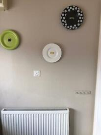 Set of 3 decorative button plates for wall