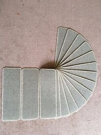 16 green carpet stair pads treads 64cm x 22cm heavy domestic British wool 80/20
