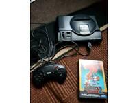 Sega mega drive console with game