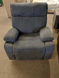 New Floor Model Grey Swivel Rocking Reclining Chair