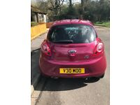 Ford KA 1.2 Zetec. Low mileage and only £30 a year tax!