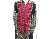 Asian shalwar kameez,mehndi,Indian Pakistani suit,agha noor,khaddi