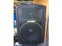 Carlsbro speakers.