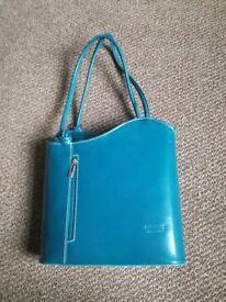 Teal handbag. Brand new. Unwanted present
