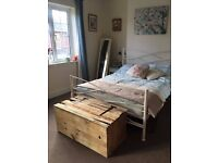 Rustic Wooden Trunk Chest Vintage Pallet Ottoman Coffee Table Blanket Box | Vintage Pallet Co.