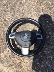 Astra h 2010 leath steering wheel vgc 07594145438